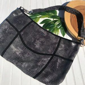 Charlie Lawson Large Embossed Leather Sling Bag